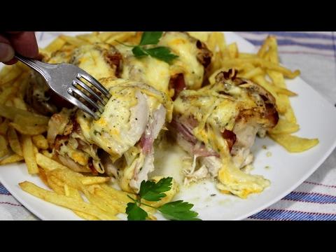 Pechuga de pollo al horno con bacon, queso y una salsa espectacular y muy fácil  | Video nº 65