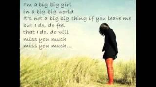 Emilia - Big Big World with Lyrics _ wunderschön