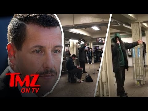 Adam Sandler Performs Raunchy New Songs in NYC Subway | TMZ TV
