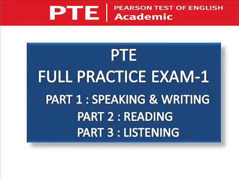 PTE FULL PRACTICE EXAM - WITH KEY - YouTube