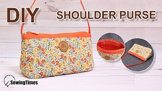 DIY Shoulder Purse | 미니 숄더백 | How To Make Fabric Bag With Sewing Machine [sewingtimes]