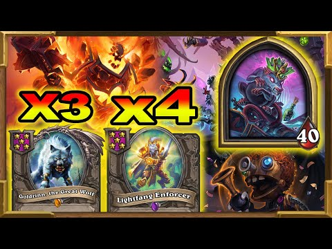 Hearthstone Battlegrounds: The Rat King Is The Best in BG! My Strongest Build Ever | Enforcer x4