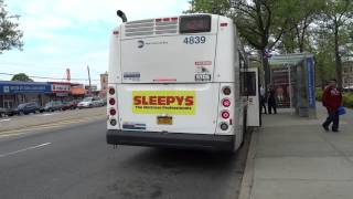 preview picture of video 'MTA New York City Bus: New Flyer XD40 #4839 Q24 @ Atlantic Avenue and Lefferts Boulevard!'
