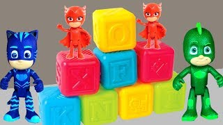 Pj Masks Toys and Toy Bathtubs Cubes, Learn Colors for Kids
