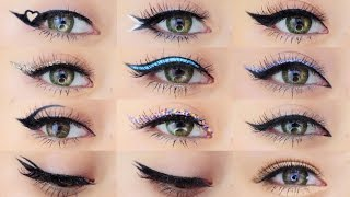 Eyeliner Makeup Tutorial | 12 Different Eyeliner Looks