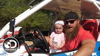 "Diesel Dave's 18-Month-Old Is Already ""Driving"" 