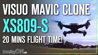 DroningON | Visuo XS809S Battle-Shark (20 minutes flight time!) Review, Unboxing & Flight Test