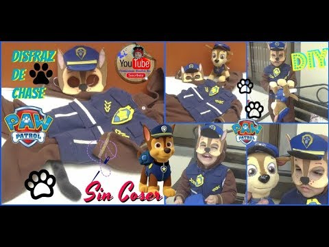 Disfraz de Chase PAW PATROL DIY Sin Coser/DIY Paw Patrol costume Chase, Best Costume, how to make