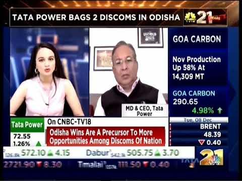 Mr. Praveer Sinha, MD & CEO, Tata Power| Interview -CNBC TV18 about winning DISCOM bids in Odisha