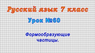 Русский язык 7 класс Урок 60