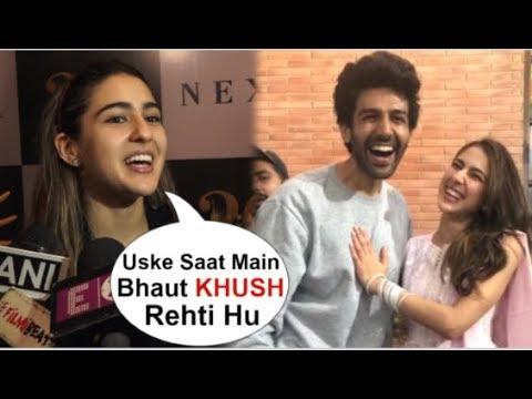 Sara Ali Khan CUTELY Accepts LOVE For Boyfriend Kartik Aryaan In Front Of Media At IIFA