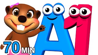 ABCs 123s + More | Alphabet Numbers Nursery Rhymes | Kids Learn 3D Cartoons by Busy & Baby Beavers - Download this Video in MP3, M4A, WEBM, MP4, 3GP