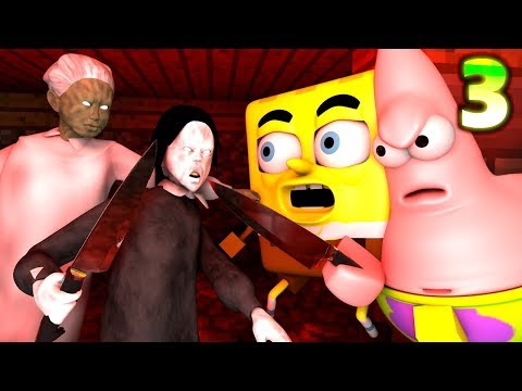 GRANNY vs. SPONGEBOB CHALLENGE 3! Minecraft Earth HIDE! (official) Minecraft Horror Game Animation