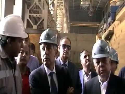 زيارة الوزير / طارق قابيل لمدينة السادات الصناعية