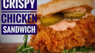 My Favorate Fried Chicken Sandwich | Easy Crispy Chicken | Chef Jon ashton