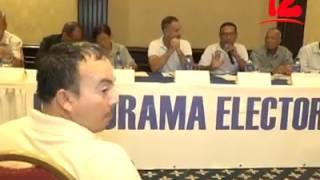 Conferencia de Prensa/Primer informe Proceso Pre Electoral Elecciones Municipales 2017