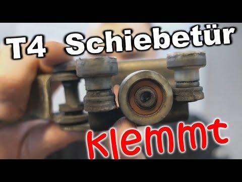 T4 Schiebetür Scharnierrollen ausbauen -  Schiebetür Rollenführung wechseln -Teil6-