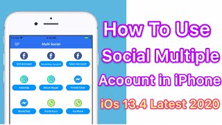 How To Use Social Multiple Accounts in iPhone iOS 13 ( Use 2 FaceBook & Whatsapp Account on iPhone )