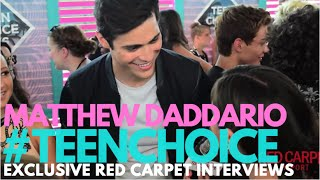 Matthew Daddario interviewed at the 2016 Teen Choice Awards Teal Carpet