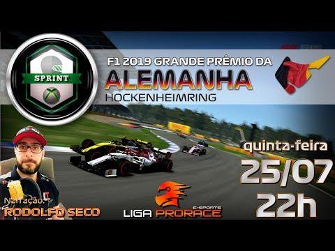 F1 2019 ESPORTS | GRANDE PRÊMIO DA ALEMANHA 2019 | F1 2019 XBOX ONE SPRINT | LIGA PRO RACE ESPORTS