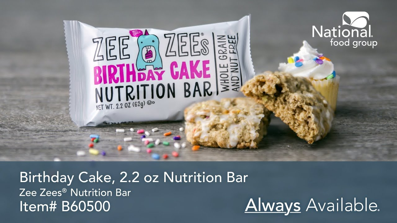 Cool Birthday Cake Nutrition Bar 2 2 Oz Zee Zees Personalised Birthday Cards Paralily Jamesorg