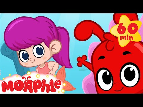 Mermaid Girl Meets Morphle and Mila! +1 hour funny Morphle kids videos compilation)
