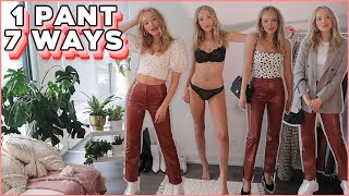 7 WAYS TO WEAR LEATHER PANTS! winter outfit ideas