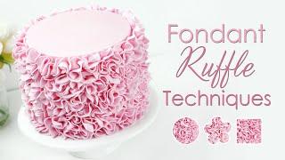 How To Create Fondant Ruffles - 3 Ruffle Cake Decorating Techniques