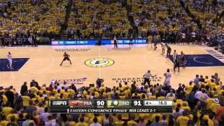 Miami Heat - Indiana Pacers 90-93: final minutes | game 5 | eastern finals 2014