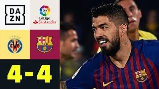 Luis Suarez Krönt Irre Barca-Aufholjagd: Villarreal - FC Barcelona 4:4   La Liga   DAZN Highlights