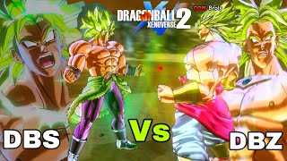 Which Broly Is STRONGER? DBZ Vs DBS In Dragon Ball Xenoverse 2 DLC 8!