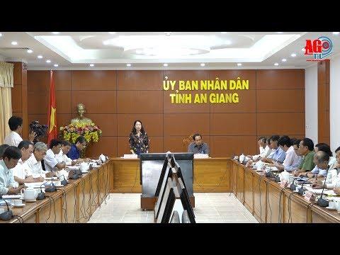 Đoàn đại biểu Quốc hội tỉnh tiếp xúc UBND tỉnh trước kỳ họp lần thứ 6, Quốc hội khóa XIV