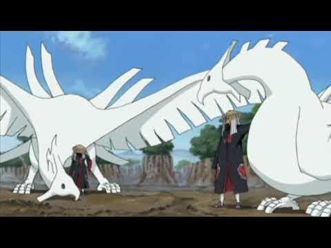 Sasuke vs Deidara completo - A arte de deidara