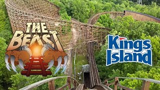 2018 The Beast Wooden Roller Coaster Front Seat On Ride HD POV Kings Island