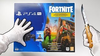 "PS4 ""FORTNITE"" CONSOLE UNBOXING! Playstation 4 Pro Fortnite Battle Royale Bundle + Bomber Skin"