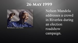 MandelaDiaries On this day 26 May 1999 Nelson Mandela addressed a crowd