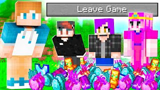 Minecraft, but LEAVING the game GIVES OP LOOT?!