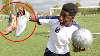 SUPER STICKY FOOTBALL vs $300 FOOTBALL BOOTS!! - OMG you NEED to see this