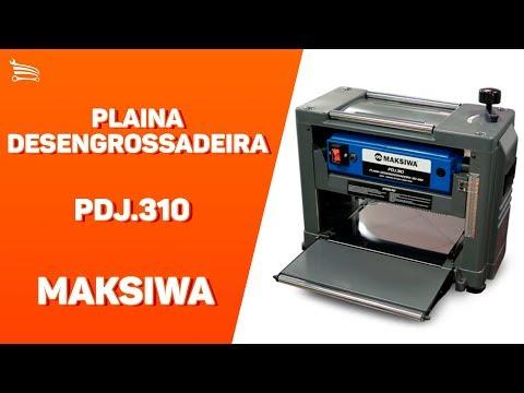 Plaina Desengrossadeira 310mm 2000W  Mono Black Edition - Video
