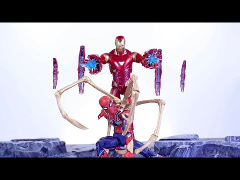 MARVEL LEGENDS IRON SPIDER & IRON MAN MK50 (Target Exclusive) AVENGERS 2 PACK ACTION FIGURE REVIEW