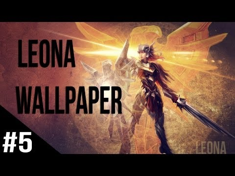 Wallpaper in Photoshop - League of Legends (Leona) #5