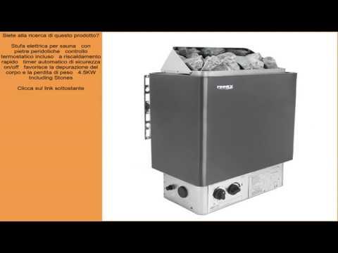 Stufa elettrica per sauna   con pietre peridotiche   controllo termostatico incluso   a ris