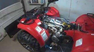 Yamaha Kodiak & Grizzly valve adjustment and fluid check