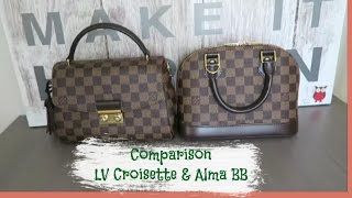 Comparison Between Louis Vuitton Alma BB And Croisette   Red Ruby Creates