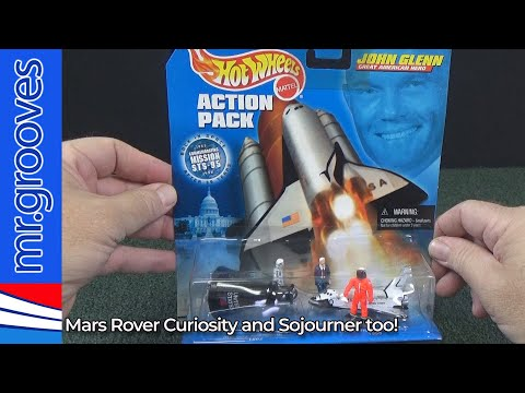 Hot Wheels Space Vehicles! Mars Rover Curiosity,  Space Shuttle Discovery