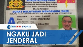 Ngaku Jadi Jenderal Bintang Dua di Kekaisaran Sunda Nusantara, Pria di Jaktim Diperiksa Polisi