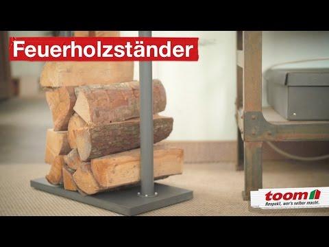 Der stilvolle Ständer für's Feuerholz | DIY by toom