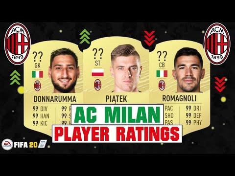 FIFA 20 | AC MILAN PLAYER RATINGS 😳🔥| FT. PIATEK, DONNARUMMA, BAKAYOKO... etc
