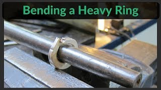 How to bend a heavy ring without a swage block