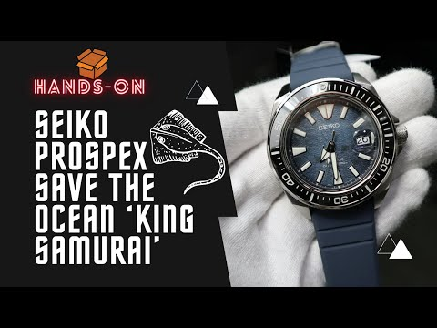 SEIKO PROSPEX SAVE THE OCEAN 'KING SAMURAI' AUTOMATIC WATCH IN BLUE DIAL SILICONE STRAP